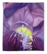 Purple Iris Fleece Blanket