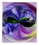 Purple Iris Orb Fleece Blanket