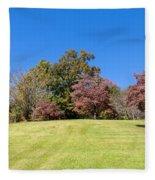Purple Leaves Fleece Blanket