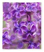Purple Lilacs Fleece Blanket