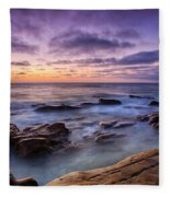 Purple Majesty No Mountain Fleece Blanket