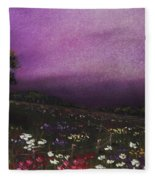 Purple Meadow Fleece Blanket