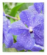 Purple Mokara Orchid Fleece Blanket
