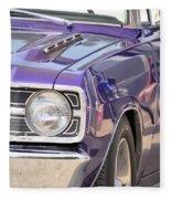 Purple Mopar Fleece Blanket