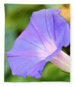 Purple Morning Glory Fleece Blanket
