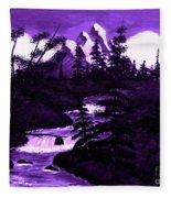 Purple Mountain Fleece Blanket