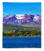 Purple Mountain Majesty Fleece Blanket