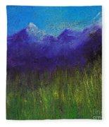 Purple Mountains By Jrr Fleece Blanket