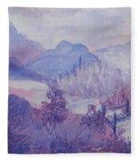 Purple Mountains Fantasy Fleece Blanket