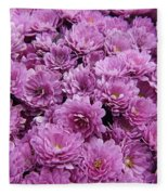 Purple Mums Fleece Blanket
