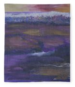 Purple Ocean Fleece Blanket