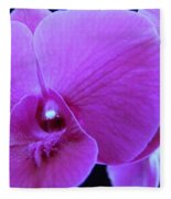 Purple Orchid 7 Fleece Blanket