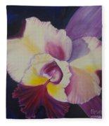 Purple Orchid Fleece Blanket