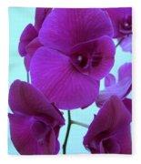 Purple Orchids 3 Fleece Blanket