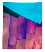 Purple Panels Fleece Blanket