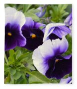 Purple Pansy Melody Fleece Blanket
