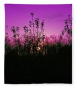 Purple Paradise Sunset By Diana Sainz Fleece Blanket
