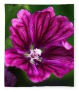 Purple Hollyhock Fleece Blanket