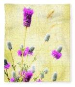 Purple Passion Texture Fleece Blanket