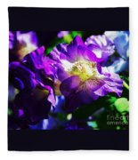 Purple Petunia Portrait Fleece Blanket