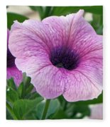 Purple Petunia  Fleece Blanket