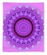 Purple Pink Kaleidoscope Fleece Blanket
