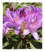 Purple Rhododendron Fleece Blanket