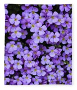 Purple Rockcress Fleece Blanket