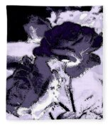 Purple Roses Fleece Blanket
