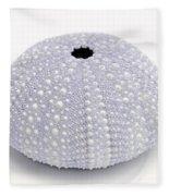 Purple Sea Urchin White Fleece Blanket