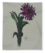 Purple Simplicity Fleece Blanket