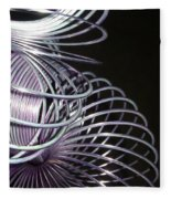 Purple Slinky Fleece Blanket