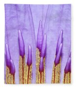Purple Spires Fleece Blanket