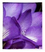 Purple Springtime Fleece Blanket