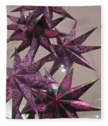 Purple Star Fleece Blanket
