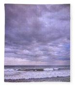 Purple Sunset At The Beach Fleece Blanket