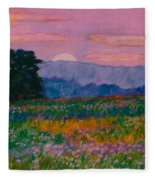 Purple Sunset On The Blue Ridge Fleece Blanket