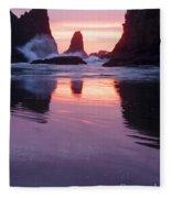 Purple Sunset Fleece Blanket