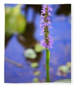 Purple Swamp Flower Fleece Blanket