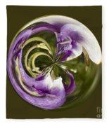 Purple Swirl Orb Fleece Blanket