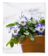 Purple Swirl Violas Fleece Blanket