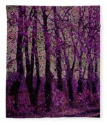 Purple Trees Fleece Blanket