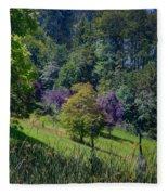 Purple Trees Fleece Blanket