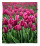 Purple Tulips Fleece Blanket