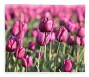 Purple Tulip Standouts Fleece Blanket