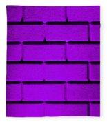 Purple Wall Fleece Blanket