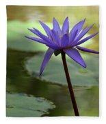 Purple Water Lily In The Shade Fleece Blanket