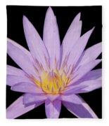 Purple Water Lily Fleece Blanket