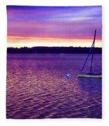 Purple Waters  Fleece Blanket
