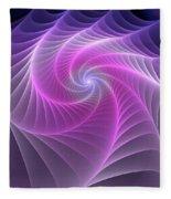 Purple Web Fleece Blanket